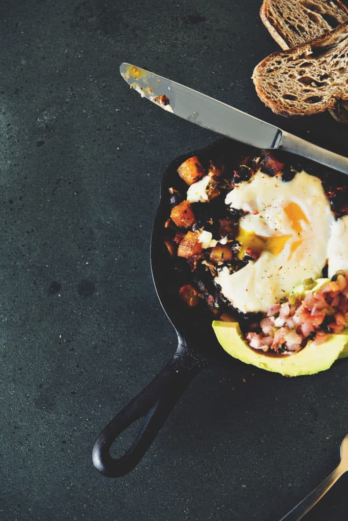 Healthy Tex-Mex Hash Browns with Eggs | Kita Roberts PassTheSushi.com