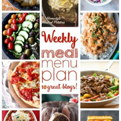 {New Year New You} Weekly Menu Plan