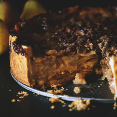 Deep Dish Caramel Pear Pie