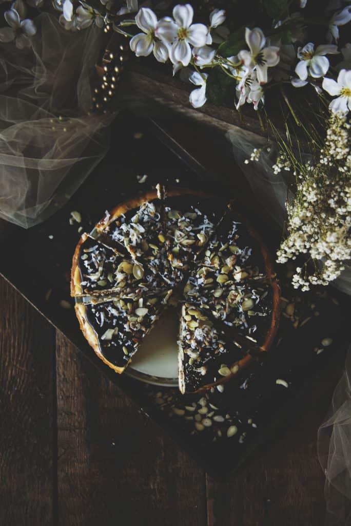 Almond Joy Cheesecake Recipe | Kita Roberts PassTheSushi.com