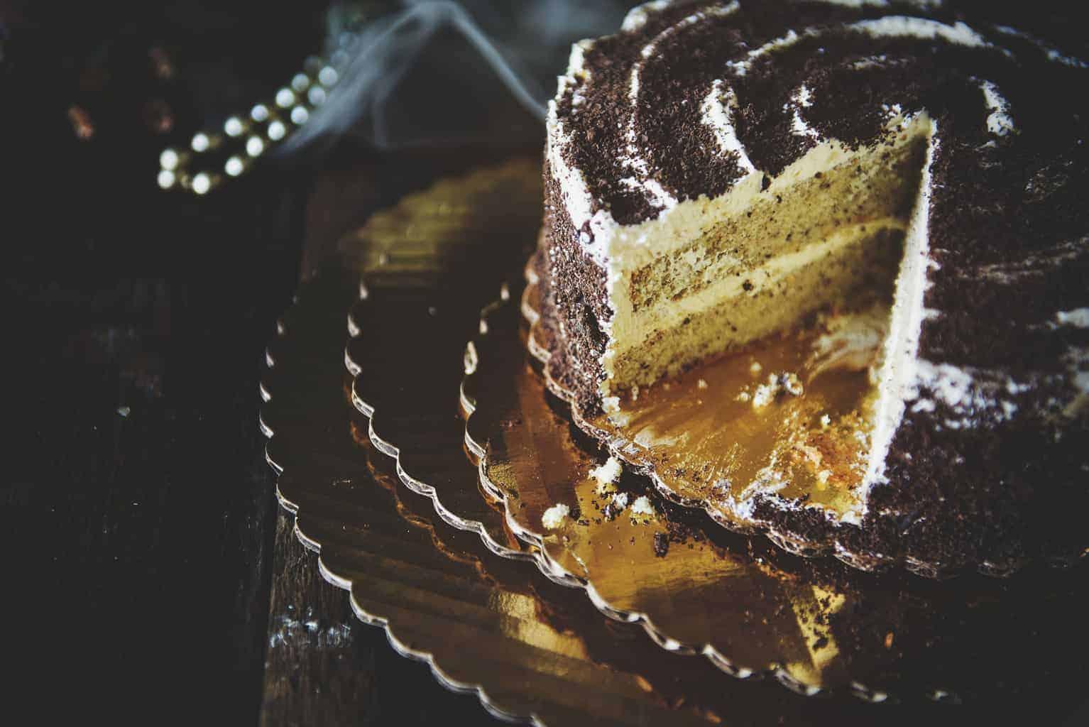Homemade Hazelnut Cake with Marshmallow Frosting | Kita Roberts PassTheSushi