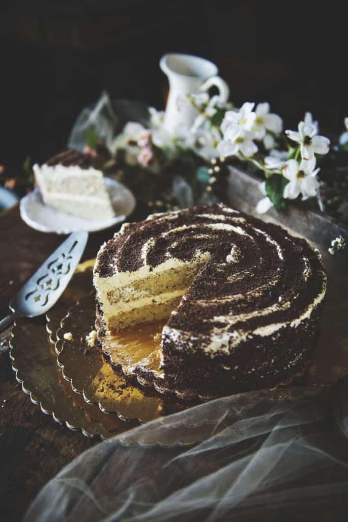 Homemade Hazelnut Cake with Marshmallow Frosting | Kita Roberts PassTheSushi.com