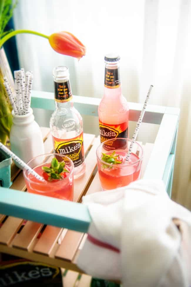 DIY IKEA HACK Bar Cart and a fun little Strawberry Lemonade Spritzer Recipe