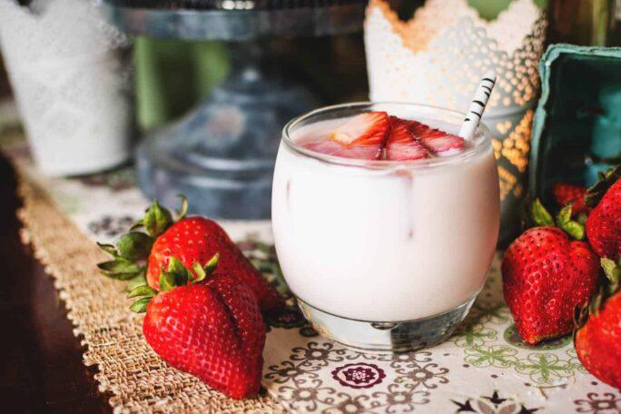 Coconut Strawberry Tequila Cocktail | PassTheSushi.com