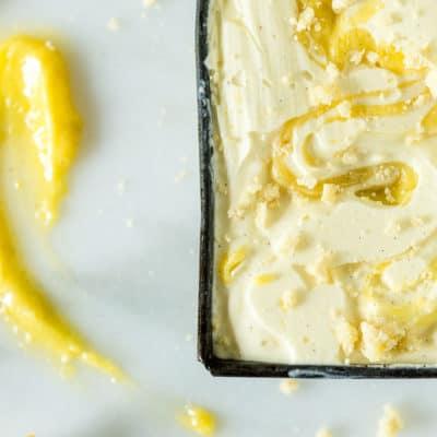 Limoncello Gelato with Vanilla Lemon Curd Swirl