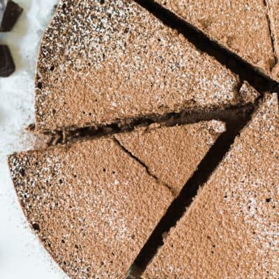 Cinnamon Spiked Flourless Chocolate Cake