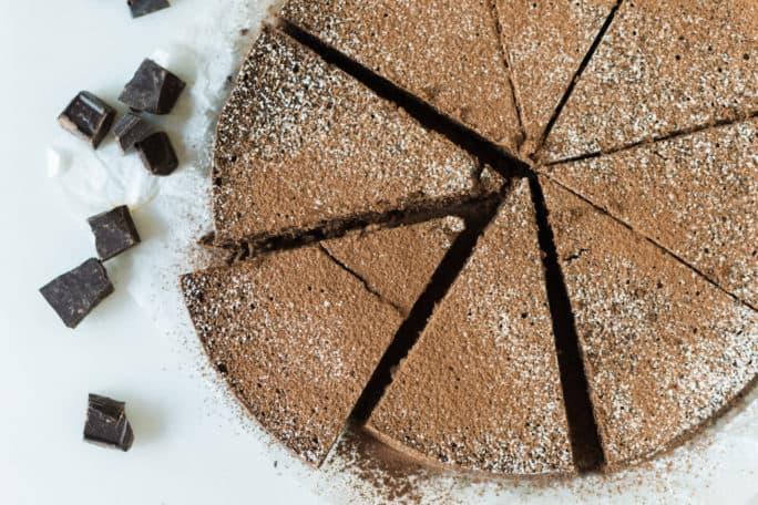Cinnamon Spiked Flourless Chocolate Cake | Kita Roberts PassTheSushi