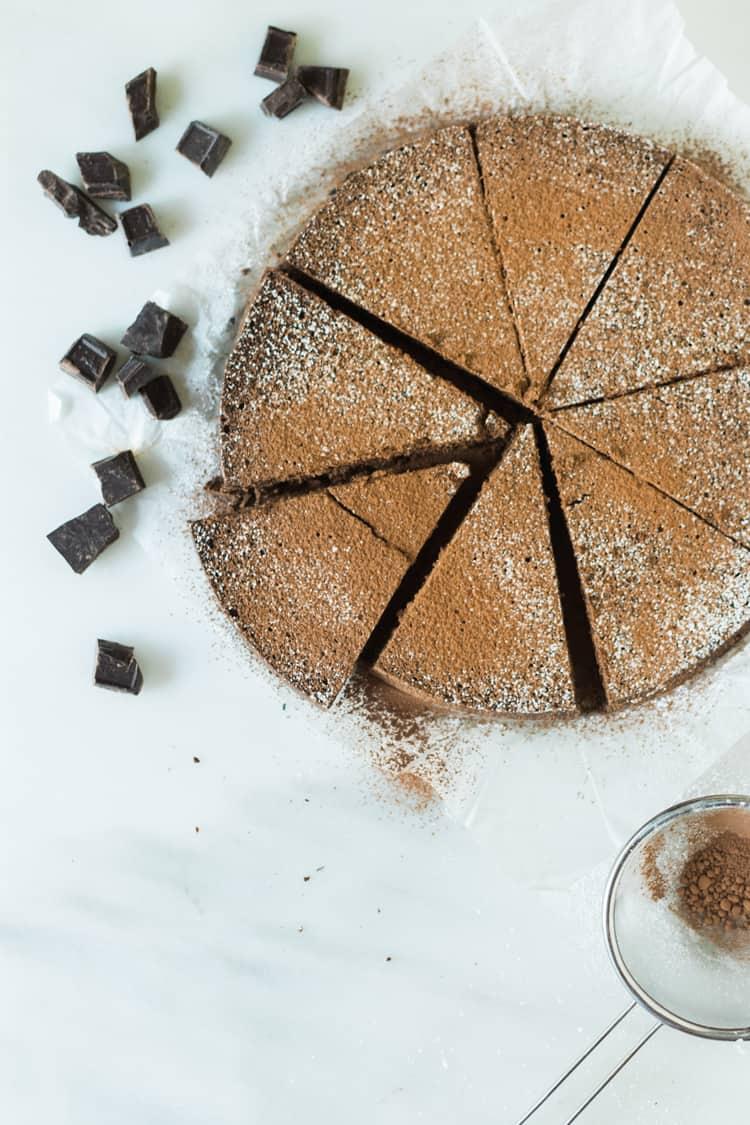 Cinnamon Spiked Flourless Chocolate Cake | Kita Roberts PassTheSushi.com