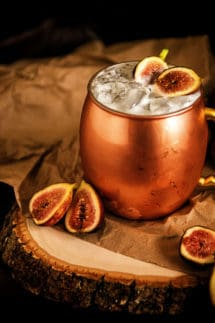 Muddled Fig Moscow Mule Cocktail