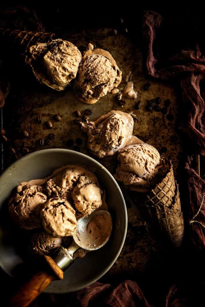 Spiked & Spicy Mexican Mocha Ice Cream Recipe   Kita Roberts PassTheSushi.com