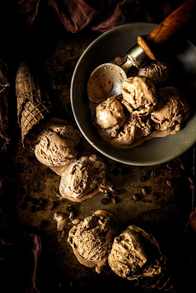 Spiked & Spicy Mexican Mocha Ice Cream Recipe | Kita Roberts PassTheSushi.com