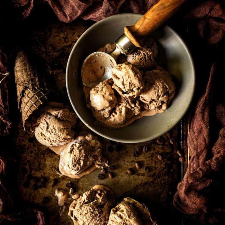 Spiked & Spicy Mexican Mocha Ice Cream Recipe | Kita Roberts PassTheSushi.com