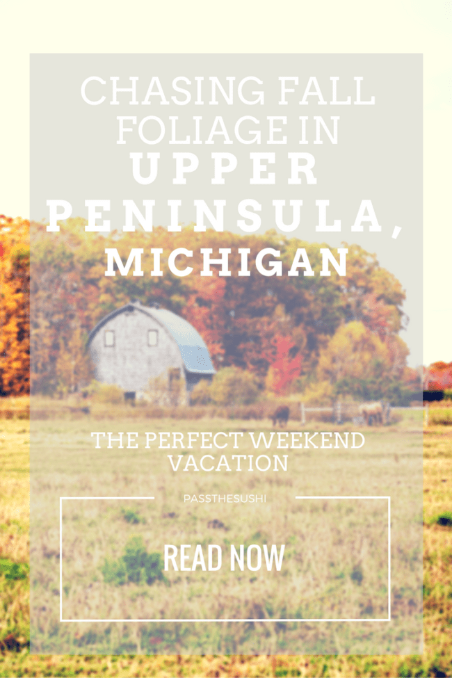 Upper Peninsula Michigan Chasing Fall Foliage for the perfect weekend getaway | PasstheSushi.com