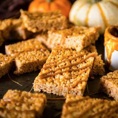 15 Minute Pumpkin Spice Krispie Treats