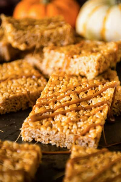 15 Minute Pumpkin Spice Krispie Treats