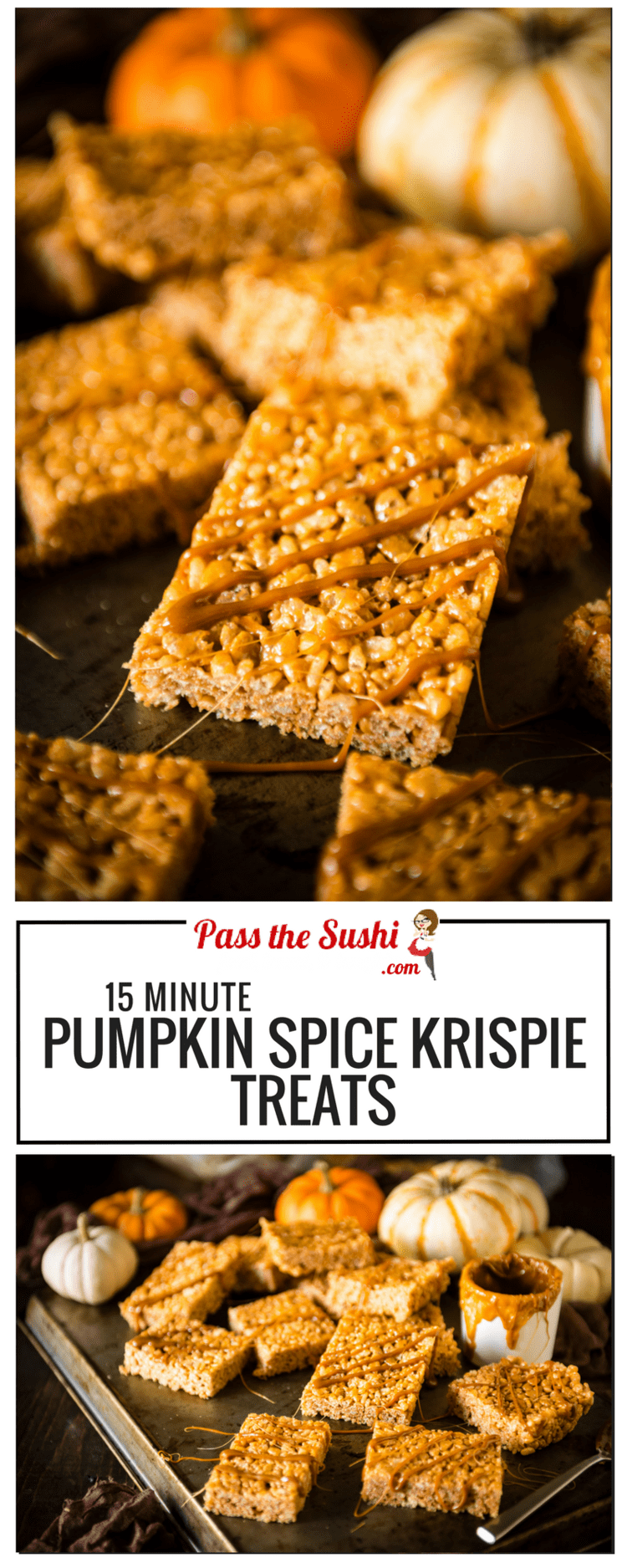 Pumpkin Spice Krispie Treats | Kita Roberts PassTheSushi.com