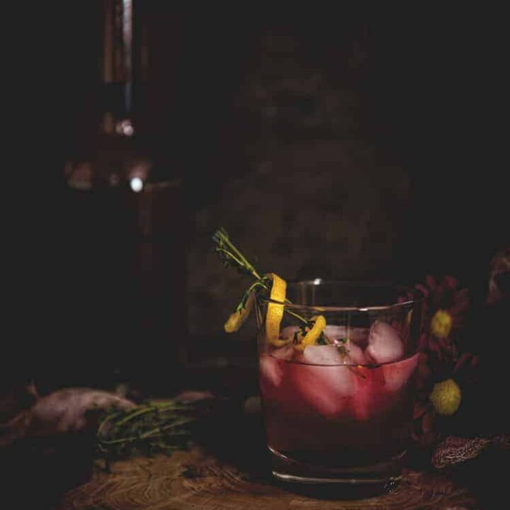 Huckleberry Lemonade Cocktail