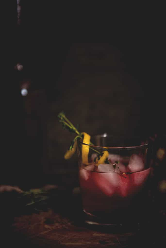 Huckleberry Lemonade Cocktail | Kita Roberts PassTheSushi.com