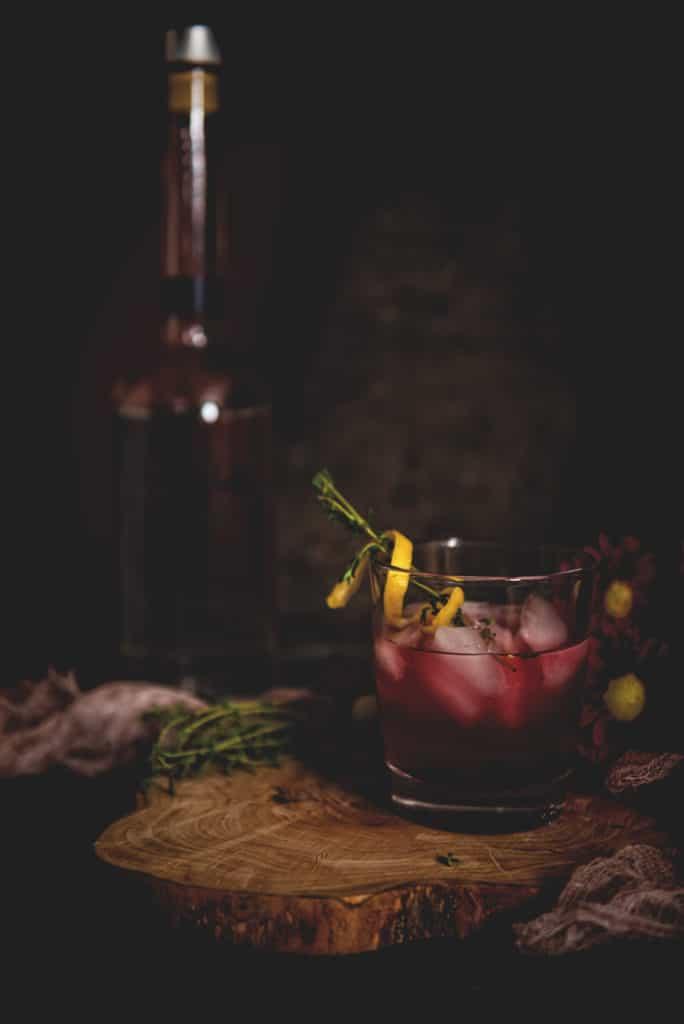 Huckleberry Lemonade Cocktail | Kita Roberts PassTheSushi.com