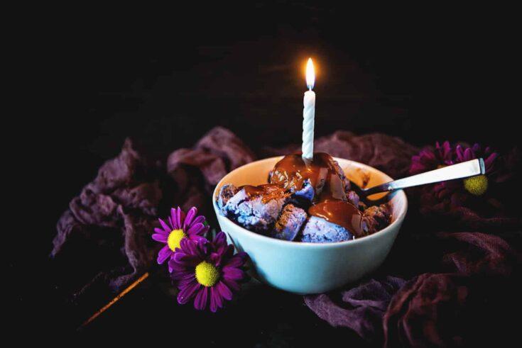 Spiked Potato and Huckleberry Swirl Ice Cream