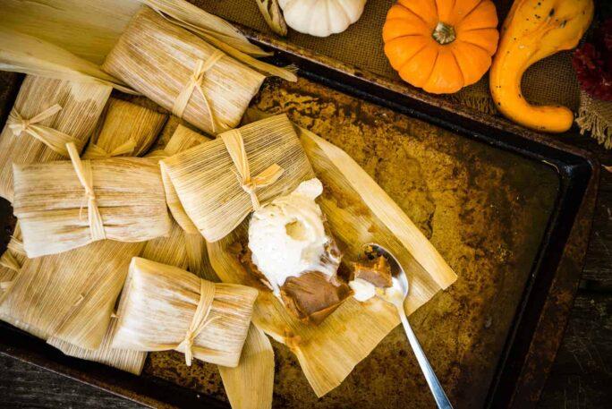Pumpkin Pie Tamales | Kita Roberts PassTheSushi.com