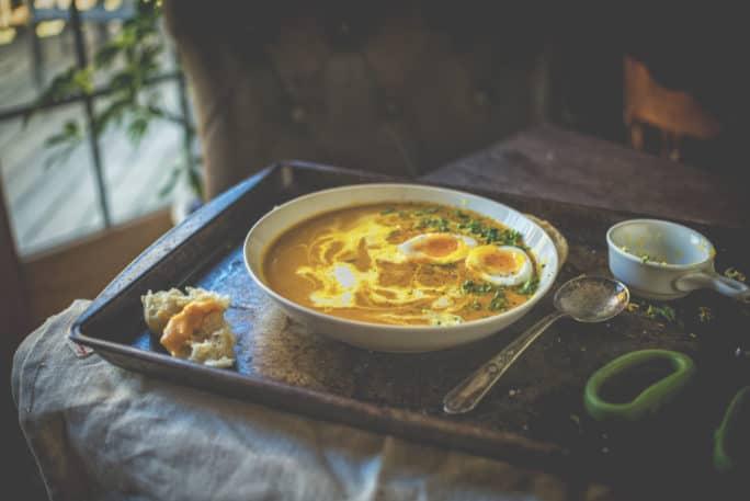 Creamy Carrot Soup Recipe | Kita Roberts PassTheSushi.com