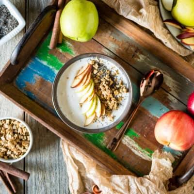 Chai Spice Apple Smoothie Bowl