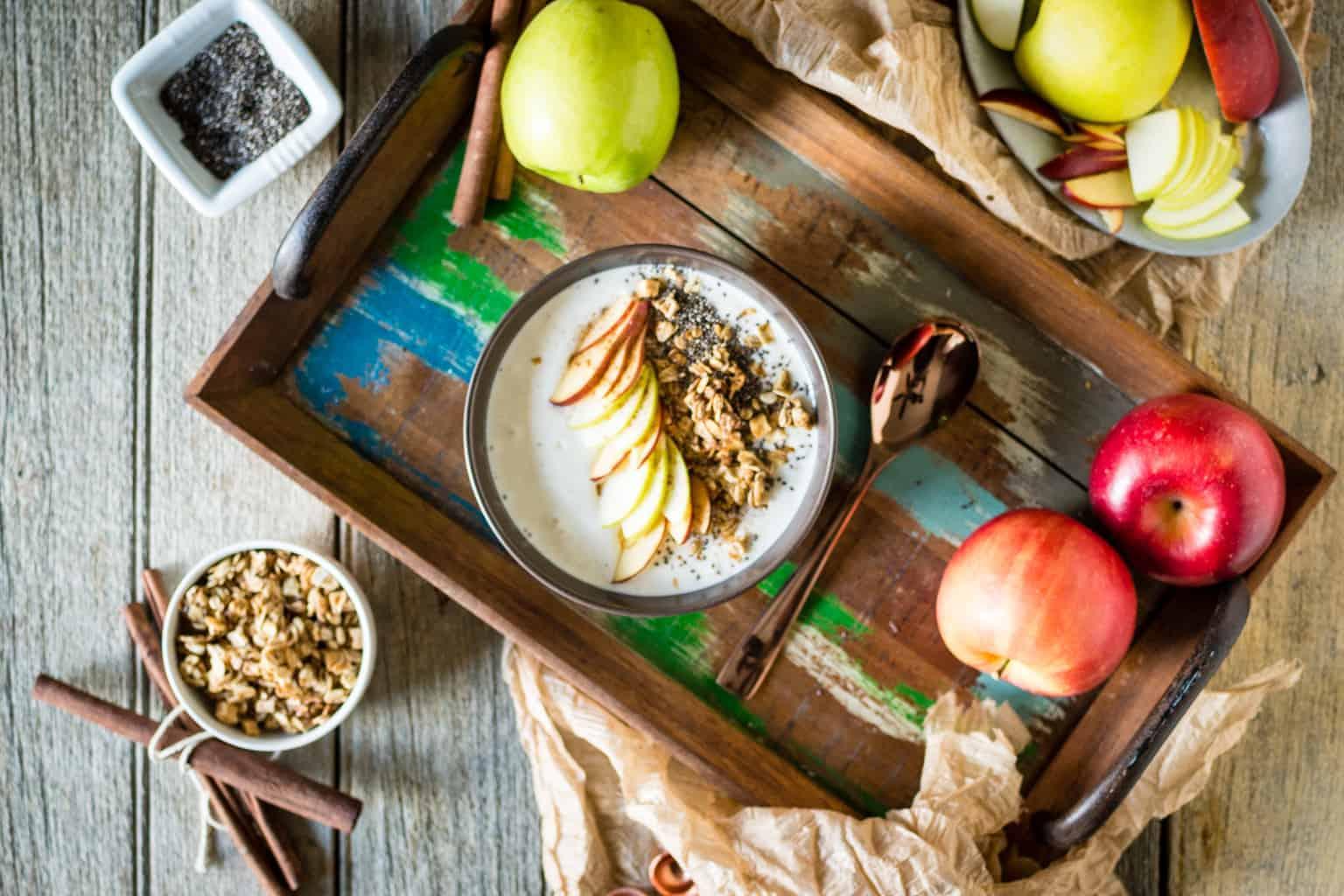Chai Spice Apple Smoothie Bowl | Kita Roberts PassTheSushi.com