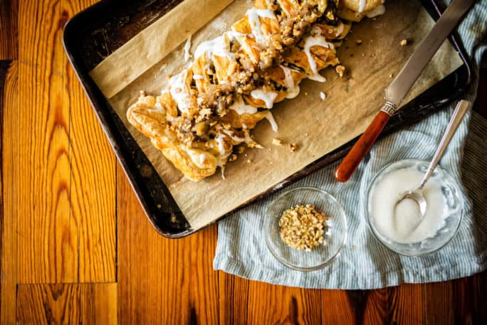 Puff Pastry Austrian Apple Strudel | Kita Roberts PassTheSushi.com