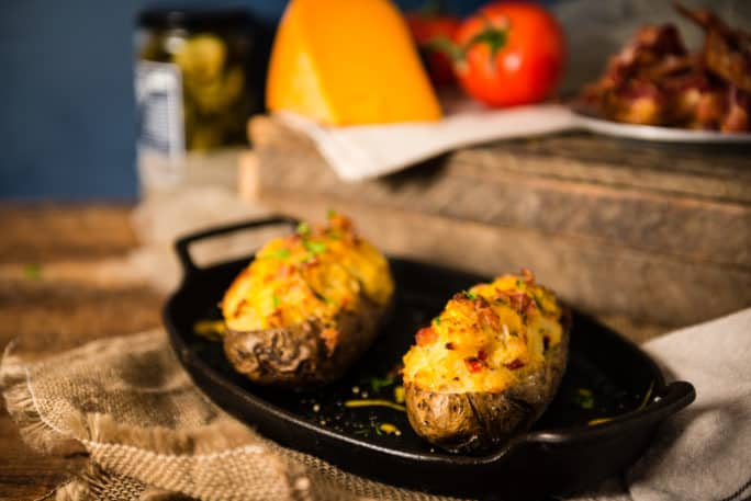 Twice Baked Potatoes with Bacon | Kita Roberts PassTheSushi.com