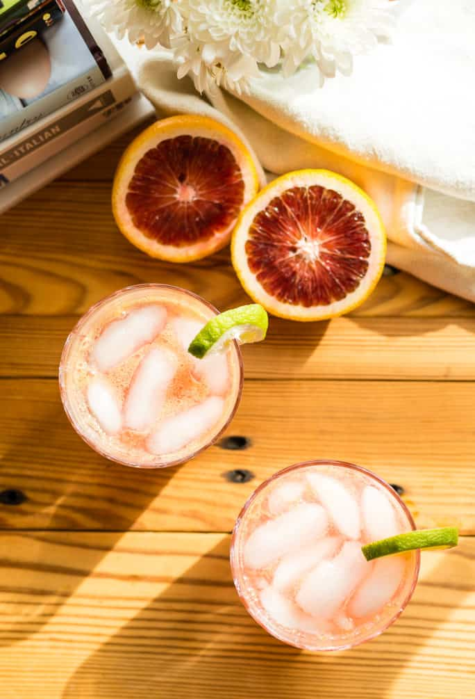 Blood Orange Paloma Spritzer | Kita Roberts PassTheSushi.com