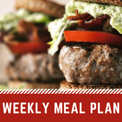 Weekly Menu | Easy Weekly Meal Plan
