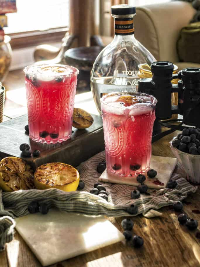 Fresh Muddled Blueberry Margarita Cocktail Recipe | Kita Roberts PassTheSushi.com