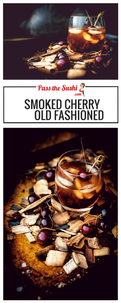 Smoked Cherry Old Fashioned Cocktail