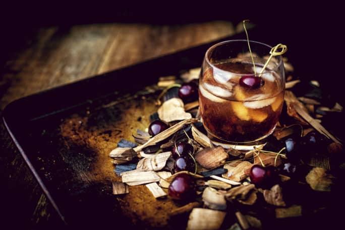Smoked Cherry Old Fashioned Cocktail   Kita Roberts PassTheSushi.com