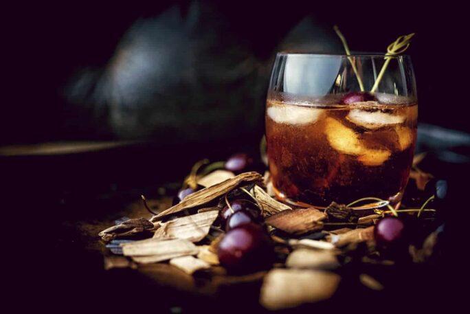 Smoked Cherry Old Fashioned Cocktail | Kita Roberts PassTheSushi.com