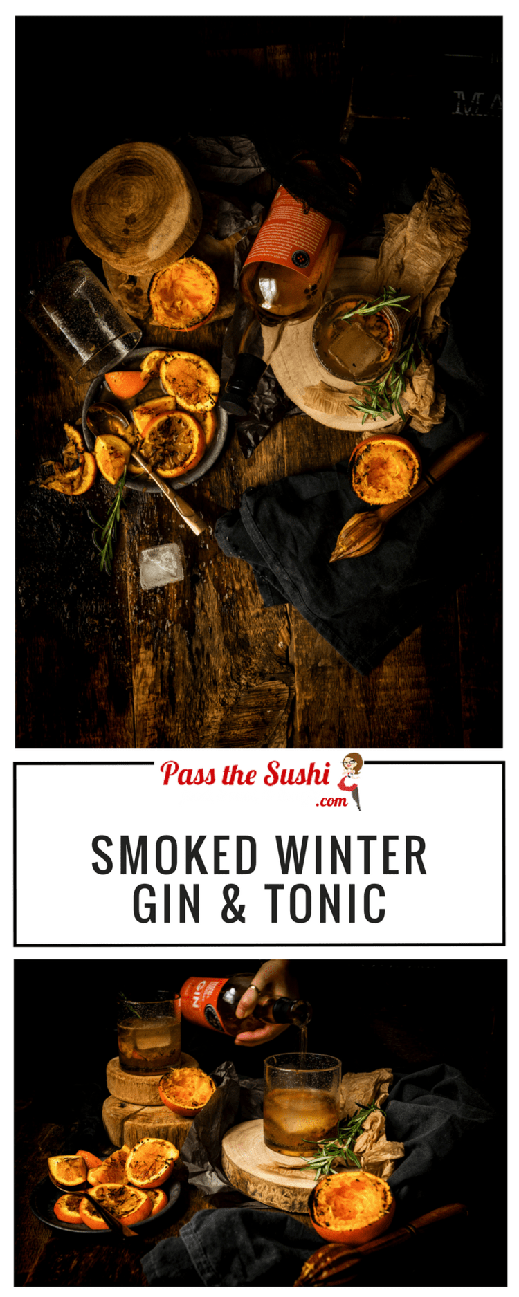 Smoked Winter Gin and Tonic Cocktail by Kita Roberts