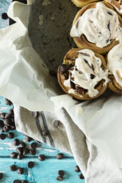 Chocolate Chip Pecan Cinnamon Rolls #BrunchWeek