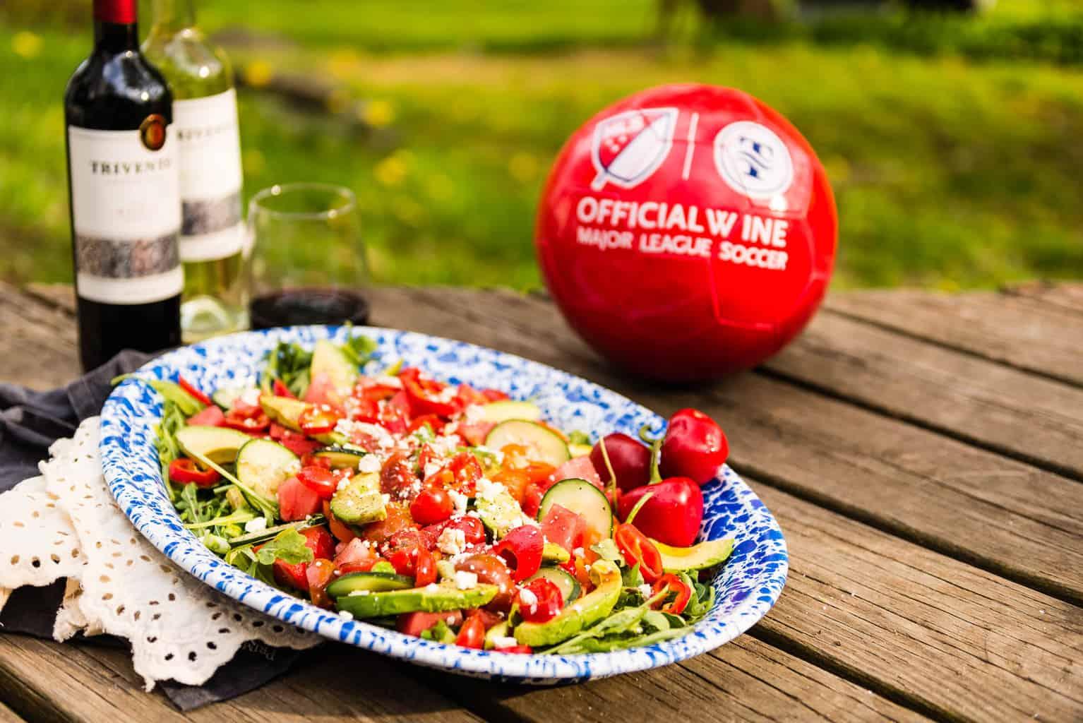 Summertime Watermelon Avocado Salad Recipe- Kita Roberts PasstheSushi