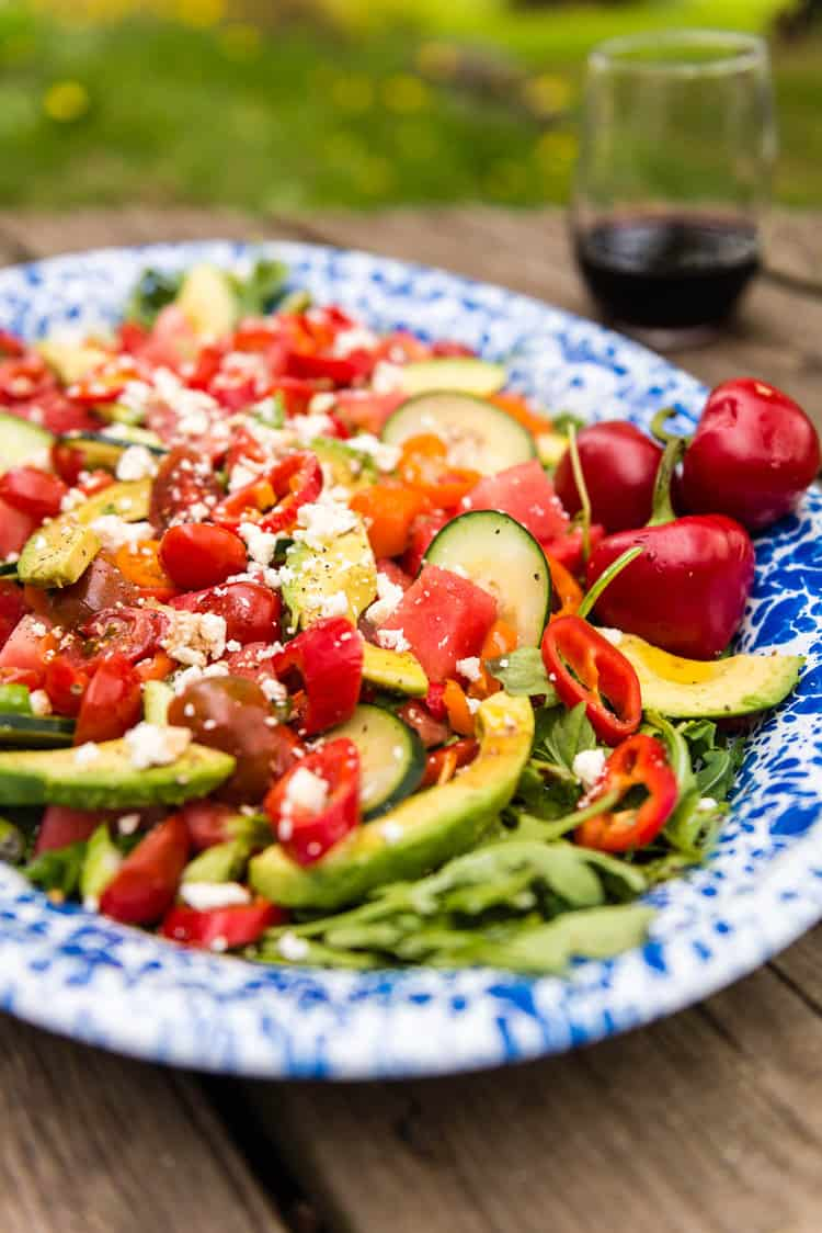Summertime Watermelon Avocado Salad Recipe- Kita Roberts PasstheSushi