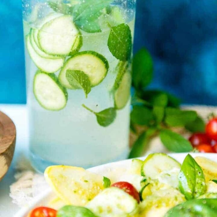 Muddled Mint and Cucumber Cooler Cocktail