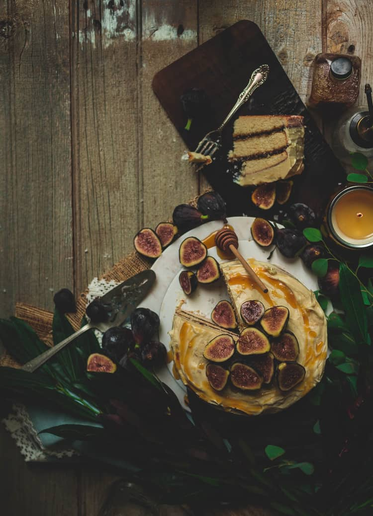 fig cake honey butter frosting