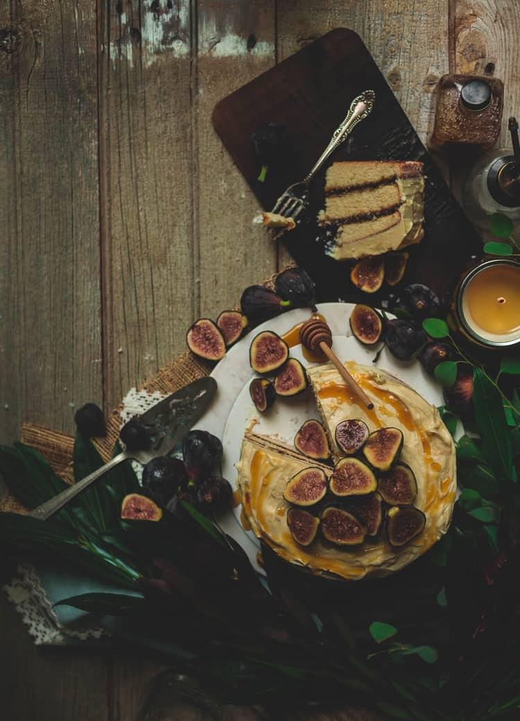 fig cake honey butter frosting