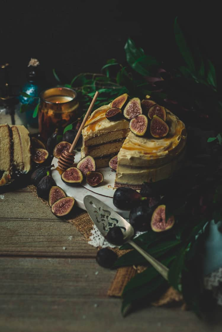 Fig Cake with Salted Honey