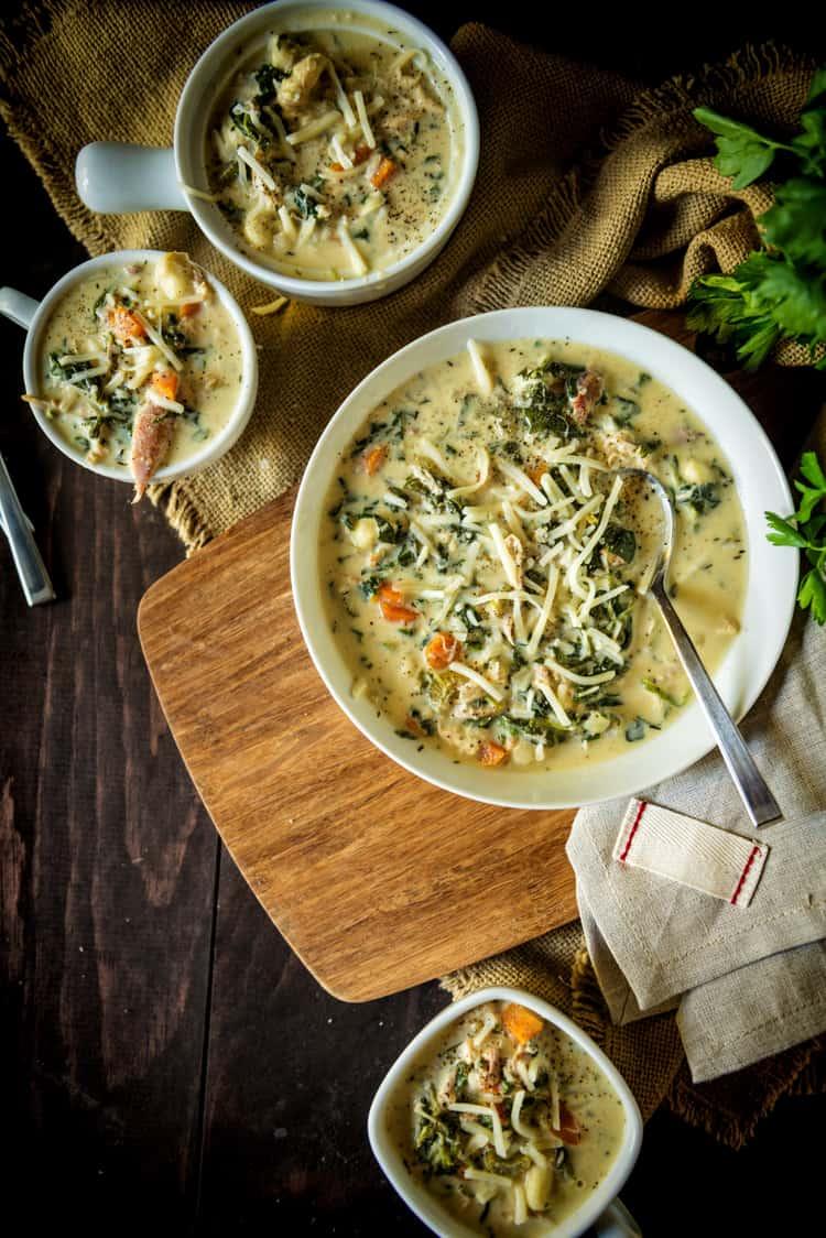 slow cooker chicken gnocchi soup recipe Kita Roberts PassTheSushi