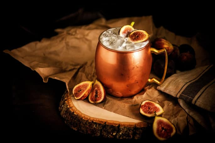 Muddled Fig Moscow Mule Cocktail Recipe