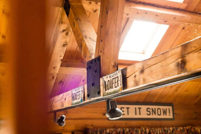Winter Weekend Vacation Snowshoeing HomeAway Cabin Carrabassett Maine
