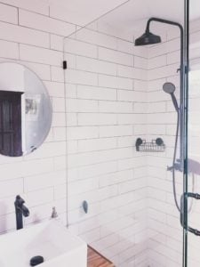 Swankiest shower ever! We loved our AirBnB for our budget vacation in Hawaii!