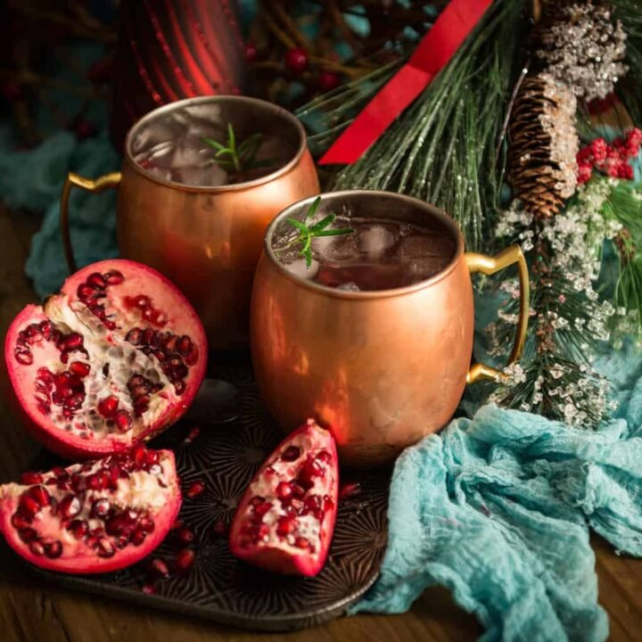 Pomegranate Moscow Mule Cocktail Recipe