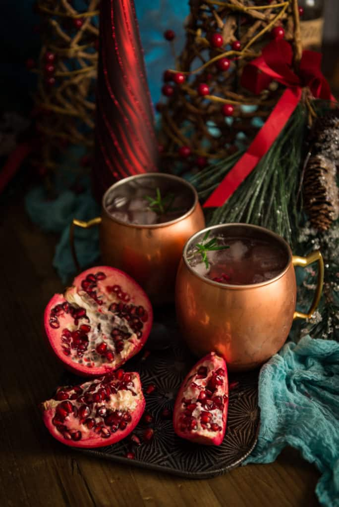 pomegranate moscow mule cocktail recipe by kita roberts on passthesushi